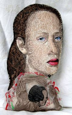 "Check out this amazing sculpture made fabric and thread entitled ""Luisa"" by artist Monica Bohlmann. See more great new works of art here. http://saatol.us/SrOMhT"