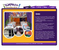 Sitio Web para Salon Sorpresa  Pueden visitar el sitio en http://www.salonsorpresa.com.ar/