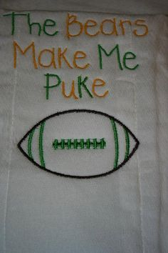 Personalized Burp Cloth - Green Bay Packers