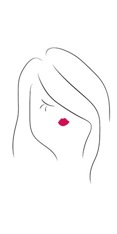 Asymmetrical Bob #fashion #beauty #hair #fashionillustration