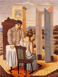 Giorgio De Chirico Conversation among the Ruins / Pittura metafisica Max Ernst, Italian Painters, Italian Artist, Oil Canvas, Street Art, National Gallery Of Art, European Paintings, Painting Gallery, Arte Popular