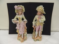 victorian porcelain figures | Antiques Atlas - Pair Victorian Bisc Porcelain Figurines Circa 1870