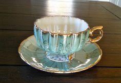 Vintage Nasco Del Coronado Blue Iridescent by Pickedtwice on Etsy, $38.95