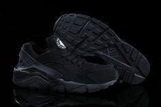 promo code 8adcb e85b4 Nike Air Huarache Womens Shoes Black All Leather 0