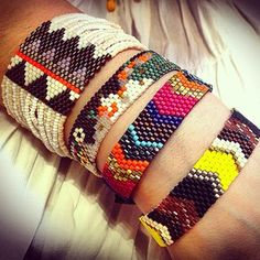 hese #African inspired bandeau bracelets are great for mixing with other pieces, or a standout on their own. Handmade by women in Rwanda, bluma project is culturally inspired, and globally minded.