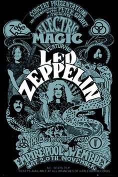 Led Zeppelin Electric Magic Poster - TshirtNow.net: