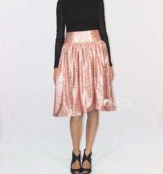 Charlotte Blush Pink Sequin Skirt (1)