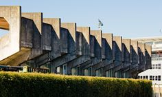 Dam Park Stand, Ayr, designed by Maurice Hickey, 1963 http://ilikelocal.blogspot.com/2013/06/scottish-brutalism.html