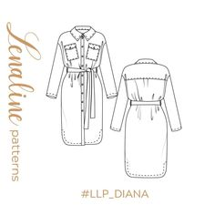 """sewing patterns on Instagram: """"Manteau ou robe? En laine bouillie, en coton encore ou en viscose ? Diana permet de faire plusieurs versions, il suffit seulement de…"""" Diana, Couture, Instagram, Wool Dress, Mantle, Boss, Haute Couture"""