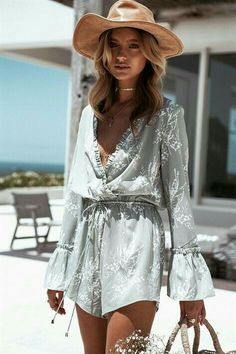 """""""Rompers"""" ~~Rosario Contreras~~ Mode Hippie, Bohemian Mode, Boho Chic, Boho Style, Hippie Chic, Trendy Outfits, Summer Outfits, Summer Dresses, Beach Outfits"""