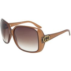 Gucci GG 3166/S HSD/JS Oversized Square Sunglasses ($200) ❤ liked on Polyvore featuring accessories, eyewear, sunglasses, brown, gucci, oversized square sunglasses, gucci sunglasses, lens glasses, brown oversized sunglasses and square rimmed glasses