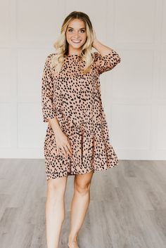 Cheetah leopard dress for a wedding guest, baby or bridal shower. Fall Outfits, Dress Outfits, Fashion Outfits, Dresses, Bridal Shower Guest Outfit, Cheetah Dress, Shower Outfits, Baby Shower Fall, Bacchus
