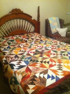 Indian Summer ~ Quiltworx.com Made by Susan Brown Susan made this quilt completely from scraps!