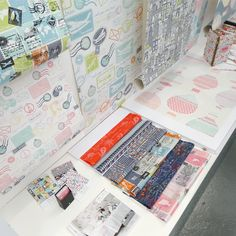 Degree Show from Emma Burton, Love the small items displayed below. Business cards, interior in situ book and mounted prints.