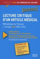 BU Médecine Pôle Formation Libre accès Cote : W 20.5 LEC http://www.sudoc.fr/165863552
