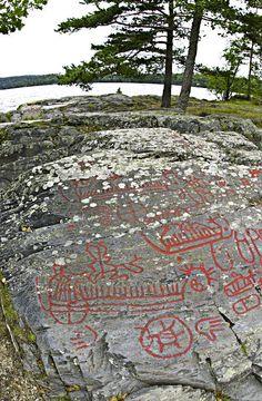 Petroglyphs at Högsbyn, Sweden
