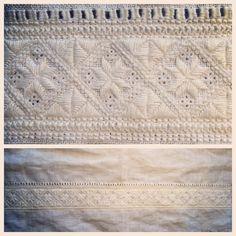 Halslinning på bunadskjorte, Rogaland, Norway Hardanger Embroidery, Folk Embroidery, Embroidery Stitches, Folk Costume, Costumes, Scandinavian Embroidery, Ukraine, Sweden, Traditional