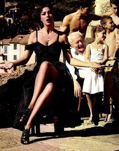 Monica Bellucci and Bianca Balti by giampaolo sgura for Dolce & Gabbana