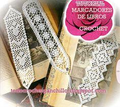 3 modelos de marcadores de libros para tejer con ganchillo y regalar