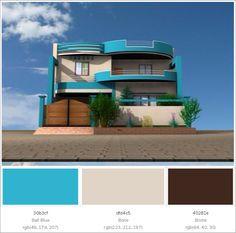 Home Design Maker Home Gate Design, House Design Photos, House Front Design, Exterior House Colors Combinations, Exterior Paint Colors For House, Paint Colors For Home, Exterior Colors, Modern Exterior House Designs, Modern Architecture House
