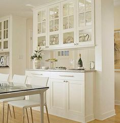 Glass Door Cabinets Open Backsplash Divide Rooms But Allow Light And Keep Somewhat