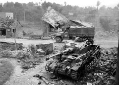 German Panzer IV destroyed in Normandy, 1944. (U.S. National Archives.)