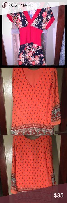 Women's Dresses Forever 21 Asian-style dress, pink retro dress, H&M blue summer dress. H&M Dresses Midi