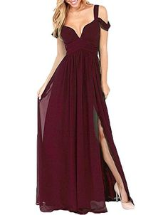 AnKang Elegant Floor Length Chiffon Bridesmaid Side Slit Formal Prom Evening Dresses (10, Burgundy) AnKang http://www.amazon.com/dp/B011AY81E6/ref=cm_sw_r_pi_dp_dNnAwb14WYJR5