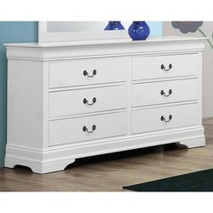PURCHASED $270 NFM Louis Philippe 6-Drawer Dresser in White   Nebraska Furniture Mart