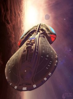 Starship USS Nautilus...Not sure whether this is fan series or novels, but great ship design.