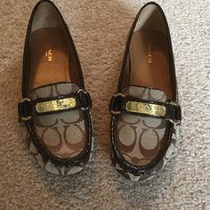 Coach Loafers Worn once, like new.  Coach of New York. Coach Shoes Flats & Loafers