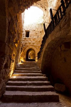 Inside Ajlun Castle . Jordan . for a nice place to stay while discovering , jordan.