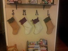 Our stockings i made today. Thanks to leah for teaching me how :)