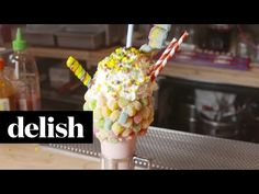 How Black Tap Makes Its Sour Power Milkshake - Insane Milkshakes - Delish.com