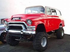 1957 GMC Suburban frame swapped to a lifted 4x4