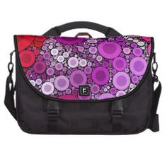 Cool Purple Pink Concentric Circles Girly Pattern Bag For Laptop