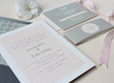 Sweet Story Modern Wedding Invitation //SAMPLE// by papela on Etsy, $4.00
