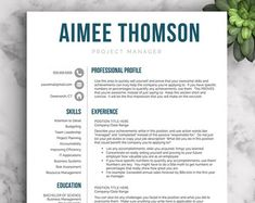 Creative Resume Template For Word And Pages  Modern  Page