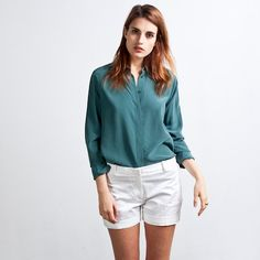 Everlane - Silk Blouse - Rounded Collar  $80