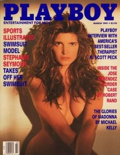 Playboy March 1991 Gift Present Original Vintage Glamour Magazine Stephanie Seymour, Playboy, M Scott Peck, Robin Givens, Michael Kelly, Love Cover, Waist Training Corset, Glamour Magazine, Christy Turlington