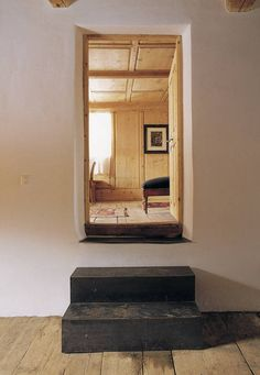 "Interior of a house, ""Chasa Not Vital"" in Tschlin, Switzerland, refurbished by architect, Duri Vital in 2003."