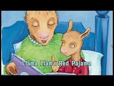 Pajama Day 'Llama Llama Red Pajama' sing along song, and online read aloud of the book by author & illustrator Anna Dewdney. Great song and read aloud for Mother's Day! Preschool Books, Book Activities, Teach Preschool, Preschool Winter, Preschool Ideas, Llama Llama Red Pajama, Baby Llama, Pj Day, Red Pajamas