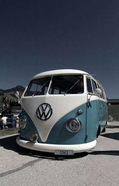 Combi 1961 Cal-look Old-School. Volkswagen Transporter, Volkswagon Van, Volkswagen Bus, Vw T1, Vw Camper, Ferdinand Porsche, Combi T1, Combi Split, Vw Cars