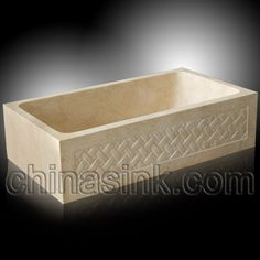 galala marble carving farm sink 24