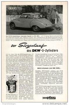 Original-Werbung/Anzeige 1954 - AUTO - UNION / DKW - 3 - ZYLINDER - ca. 150 x 220 mm