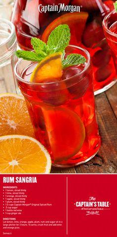 1 oz captain 2 oz red wine 1 oz orange juice slice of lemon & lime SHAKE top w/ ginger ale