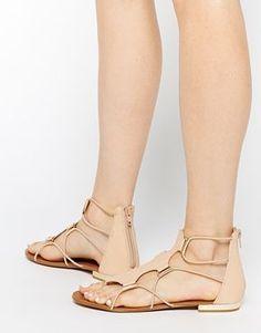 570b9e00338 Sandals   ALDO Zeanna Nude Gladiator Flat Sandals -  Sandals  https   talkfashion