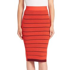 Sonia by Sonia Rykiel Striped Column Skirt (£165) ❤ liked on Polyvore featuring skirts, apparel & accessories, red stripe skirt, slim skirt, pull on skirts, sonia by sonia rykiel and red skirt