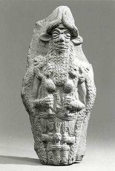 Molded plaque: bearded underworld god, Old Babylonian, ca. 2000-1600 B.C., Mesopotamia