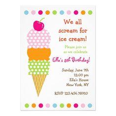 24 best ice cream birthday invitations images on pinterest ice ice cream birthday party invitations filmwisefo
